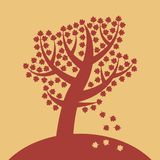 Silhouette d'un arbre Signe ou symbole illustration stock