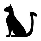 Silhouette d'un chat Photo stock