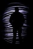Silhouette d'un homme Photo stock