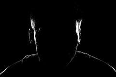 Silhouette d'un homme Images libres de droits