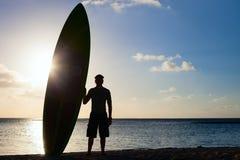 Silhouette d'un homme avec le panneau de palette photo libre de droits