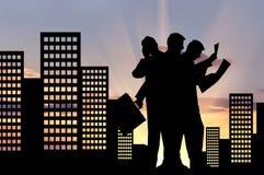 Silhouette d'un homme d'affaires dans les affaires Photos libres de droits