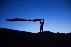 Silhouette d'un homme de berber photo libre de droits
