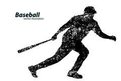 Silhouette d'un joueur de baseball Photos libres de droits