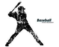 Silhouette d'un joueur de baseball Image libre de droits