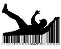 Silhouette d'un joueur de baseball Photographie stock libre de droits