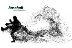 silhouette d'un joueur de baseball de particule Image libre de droits