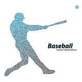 silhouette d'un joueur de baseball de triangle Image libre de droits