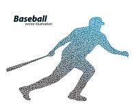 silhouette d'un joueur de baseball de triangle Photo stock