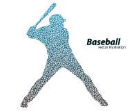silhouette d'un joueur de baseball de triangle Images libres de droits