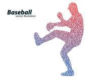 silhouette d'un joueur de baseball de triangle Photographie stock