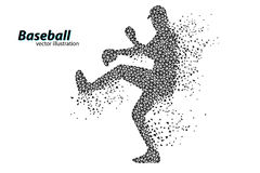 silhouette d'un joueur de baseball de triangle Photo libre de droits