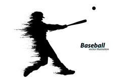 Silhouette d'un joueur de baseball Illustration de vecteur Photographie stock