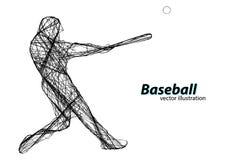 Silhouette d'un joueur de baseball Illustration de vecteur Images libres de droits