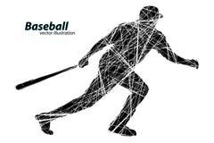 Silhouette d'un joueur de baseball Illustration de vecteur Photo libre de droits