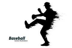 Silhouette d'un joueur de baseball Illustration de vecteur Photo stock