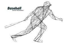 Silhouette d'un joueur de baseball Illustration de vecteur Photos libres de droits
