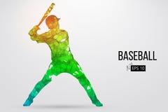 Silhouette d'un joueur de baseball Illustration de vecteur Images stock