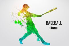 Silhouette d'un joueur de baseball Illustration de vecteur Photos stock