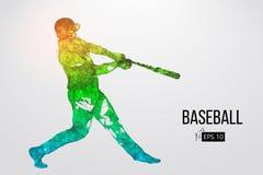 Silhouette d'un joueur de baseball Illustration de vecteur Photographie stock libre de droits