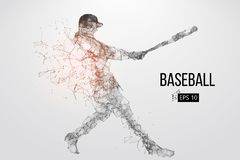Silhouette d'un joueur de baseball Illustration de vecteur Photo stock