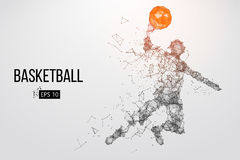Silhouette d'un joueur de basket Illustration de vecteur Photos stock