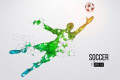 Silhouette d'un joueur de football des particules Illustration de vecteur Image libre de droits