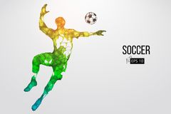 Silhouette d'un joueur de football des particules Illustration de vecteur Photos libres de droits