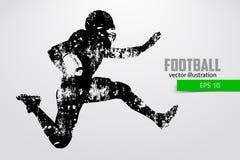 Silhouette d'un joueur de football Illustration de vecteur Image libre de droits