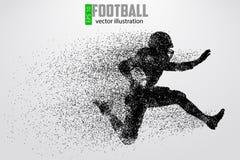 Silhouette d'un joueur de football Illustration de vecteur Images stock