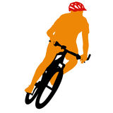 Silhouette d'un mâle de cycliste Illustration de vecteur illustration libre de droits