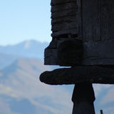 Silhouette d'un orrio Image stock