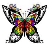 Silhouette d'un papillon Images libres de droits