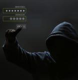 Silhouette d'un pirate informatique Images libres de droits