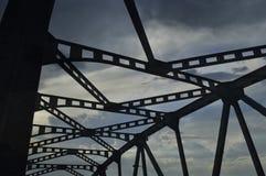 Silhouette d'un pont Images libres de droits
