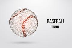 Silhouette d'une boule de base-ball Illustration de vecteur illustration libre de droits