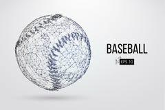 Silhouette d'une boule de base-ball Illustration de vecteur illustration stock