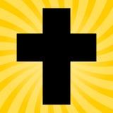 Silhouette d'une croix - illustration Photographie stock