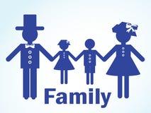 Silhouette d'une famille Images libres de droits