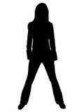 Silhouette d'une jeune femme illustration stock