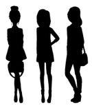 Silhouette d'une jeune fille illustration de vecteur