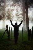 Silhouette d'une jeune fille Image libre de droits