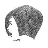 Silhouette d'une tête femelle Photo stock