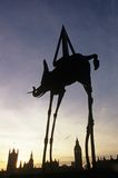 Silhouette of Dali's Space Elephant, London Stock Photography
