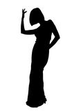 Silhouette dance Stock Image
