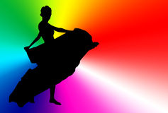 The silhouette of dancer Royalty Free Stock Photos