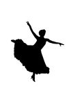 Silhouette dancer. Silhouette woman dancing Royalty Free Stock Images