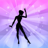 Silhouette of dancer Royalty Free Stock Images