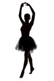 Silhouette of dancer girl with hands up Royalty Free Stock Photography