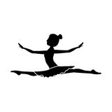 Silhouette with dancer position spear Stock Image